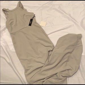 NWT LuLu's Grey full length Gown